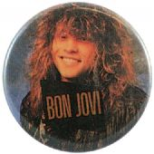Bon Jovi - 'Long Hair Grin' Button Badge